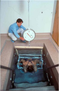 Hydrostatic weighing is the best way to determine one's body fat percentage. Although it is the best, it is expensive and can only be done in a clinical setting.