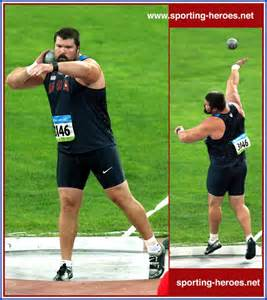 The Shot-put in Track and Field is a good example of strength, power, and coordination.