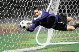 A soccer goalie saving a goal is an excellent example of reaction time.