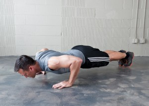 Be sure to get a full-range of motion on all push-ups!